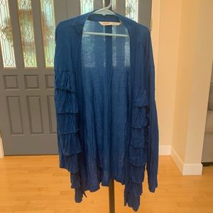 Old Navy women's blue ruffle cardigan size M